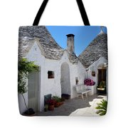 Alberobello Courtyard With Trulli Tote Bag