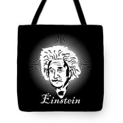 Albert Einstein Caricature On A White Glow Tote Bag