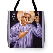 Albert Einstein  Scientist, Humanitarian, Mystic - Rlabe Tote Bag