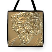 Albert Sticks Out His Tongue 24 Kt Gold 4  Tote Bag