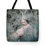 Albino In Forest Tote Bag