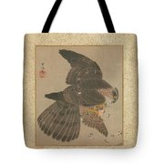 Album Of Hawks And Calligraphy Tote Bag