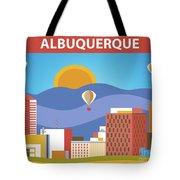 Albuquerque New Mexico Horizontal Skyline Tote Bag