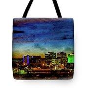 Albuquerque New Mexico Skyline Tote Bag