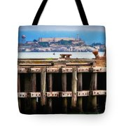 Alcatraz Beyond The Pier Tote Bag