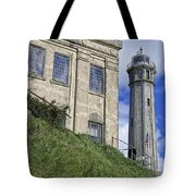 Alcatraz Cell House And Lighthouse Tote Bag