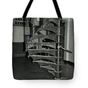 Alcatraz Stairs In Bw Tote Bag