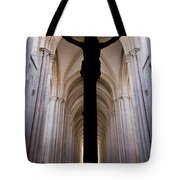 Alcobaca Monastery Church Crucifix Tote Bag