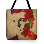 Alden Ehrenreich Watercolor Portrait Tote Bag