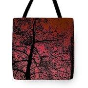 Alder Trees Against The Winter Sunrise Tote Bag