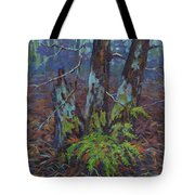 Alders With Ferns Tote Bag