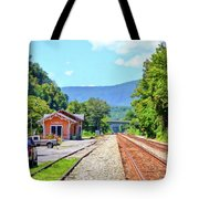 Alderson Train Depot And Tracks Alderson West Virginia Tote Bag