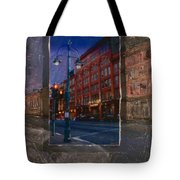 Ale House And Street Lamp Tote Bag