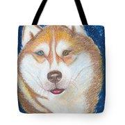 Alek The Siberian Husky Tote Bag