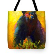 Alert - Black Bear Tote Bag