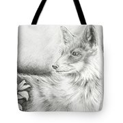 Alert Fox  Tote Bag