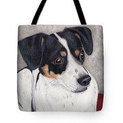Alert Little Rat Terrier  Tote Bag