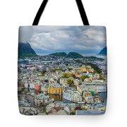 Alesund Norway Cityscape Tote Bag