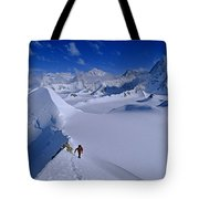 Alex Lowe On Mount Bearskin 2850 M Tote Bag