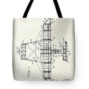 Alexander Graham Bell Airplane Patent Print, Plane Patent Blueprint Tote Bag
