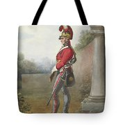 Alexander Ivanovitch Sauerweid 1783-1844 British Army. Private, Life Guards. About 1816 Tote Bag