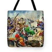 Alexander The Great At The Battle Of Issus  Tote Bag