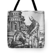 Alexander The Great Kneeling Before The High Priest Of Ammon Tote Bag