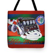 Alfa Romeo Indy Engine Tote Bag