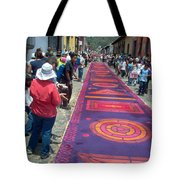 Alfombra In Purples Tote Bag
