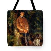 Alfred Berard And His Dog 1881 Tote Bag