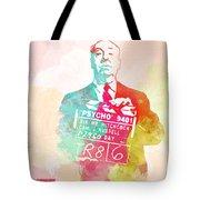 Alfred Hitchcock Tote Bag by Naxart Studio