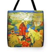 Algeria, Traditional Market, Tourist Advertising Poster Tote Bag
