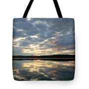 Algonquin Lake Sunset Tote Bag