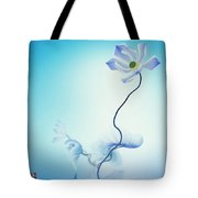 Algorithmic Art - Math Flowers In Blue 3 Tote Bag