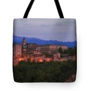 Alhambra Granada Dusk Tote Bag