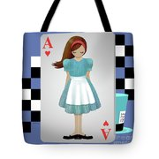 Alice 3d Flying Cards Tote Bag