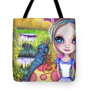 Alice And Absolem Tote Bag