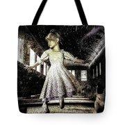 Alice And The Rabbit Tote Bag by Bob Orsillo
