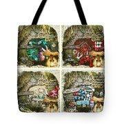 Alice Of Wonderland Series Tote Bag