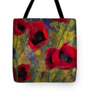 Alicias Poppies Tote Bag