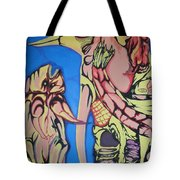 Alien Birds Tote Bag