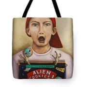 Alien Cookies Tote Bag
