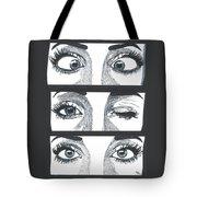 Alien Eyes Tote Bag