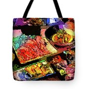Alien Food Delicacies Tote Bag