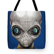 Alien From Space Tote Bag