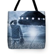 Alien Invasion Cyberpunk Version Tote Bag