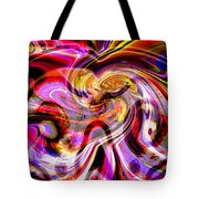 Alien Mind On Fire. Tote Bag