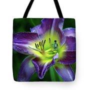 Alien On Flower Tote Bag