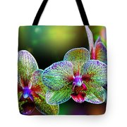 Alien Orchids Tote Bag by Bill Tiepelman