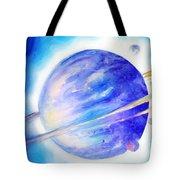 Alien Planet. Blue Light Of Hope Tote Bag